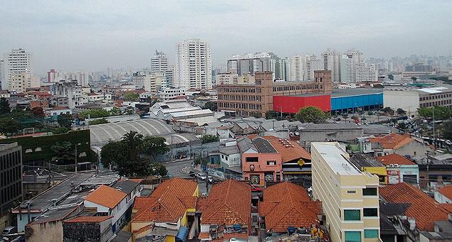 Vista panorâmica do bairro da Mooca, na zona leste