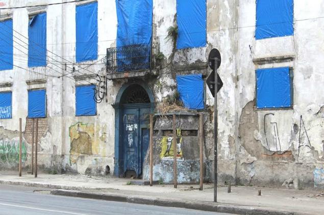 Guarita de entrada do quartel também está destruída