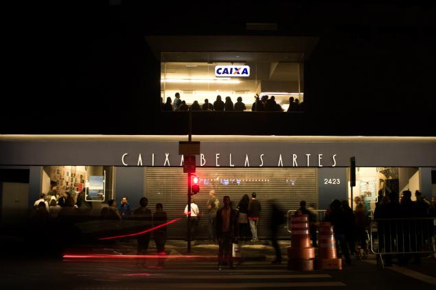 Fachada do Caixas Belas Artes, reaberto no último sábado (19)