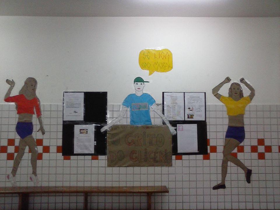 Espaço do Jornal Mural do Grito do Glicério