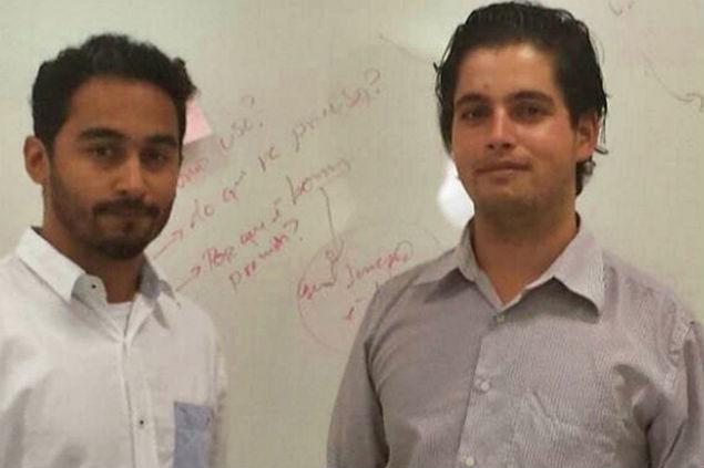 Felipe (à esquerda) e Marcio (à direita), os amigos pretendem levar o projeto às escolas públicas do país