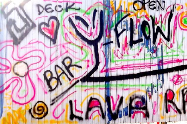Bar funciona como lava-rápido de dia (Foto: Jéssica Souza/Blog Mural)