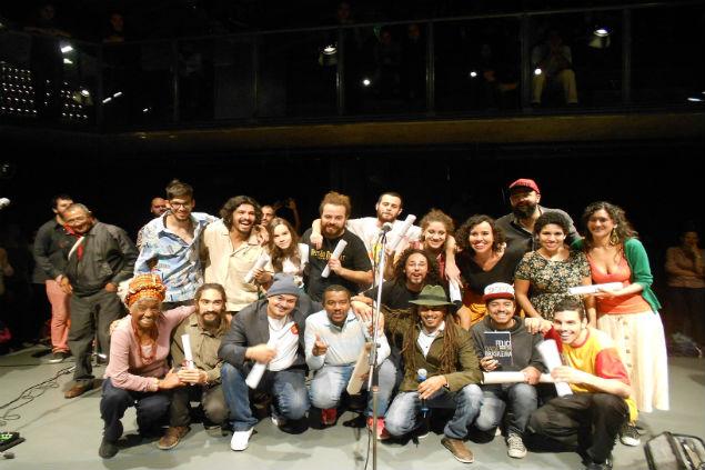 Premiados do 1º Festival de Poesia de São Paulo (Créditos: Lívia Lima)