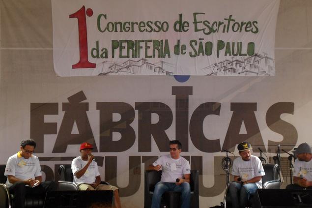 Mesa sobre incentivo à produção literária com Michel Iakini, Fuzzil, Serginho Poeta, Márcio Ricardo e Robsoul