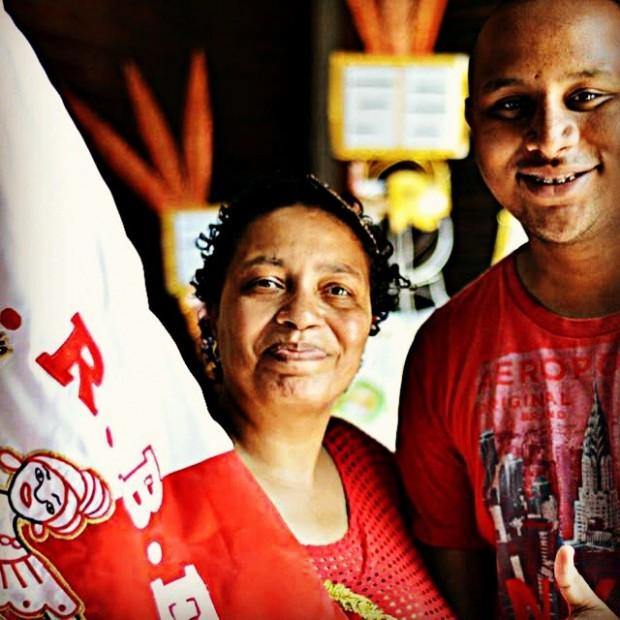 Rosemeire Marcondes, presidente da Lavapés, e Luiz Felipe, intérprete da Lavapés (Foto: Salvem Lavapés)