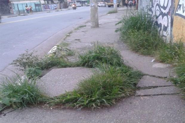 Calçada da avenida Parada Pinto (Créditos: Kelly Mantovani)