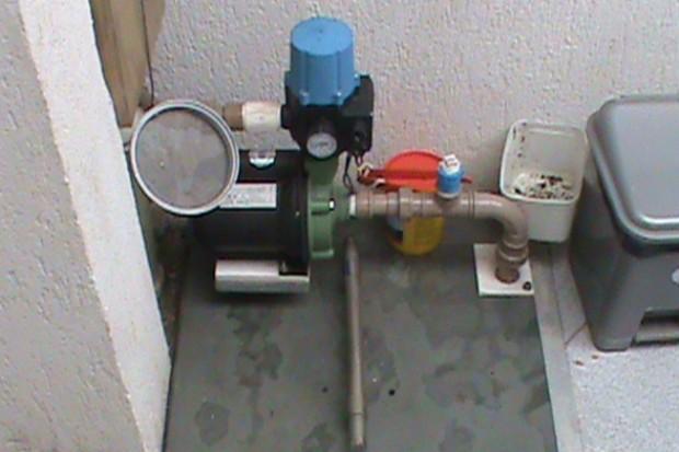 O morador também utiliza o sistema de captação de água para regar seu jardim (Foto: Raphael Preto)