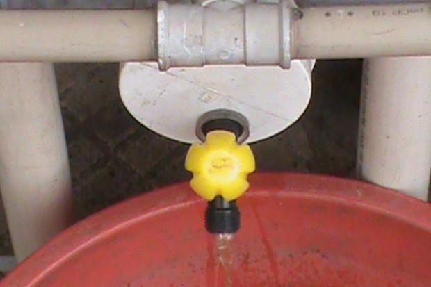 Parte do sistema de captação de água que tem baixo custo (Foto: Raphael Preto/Blog Mural)
