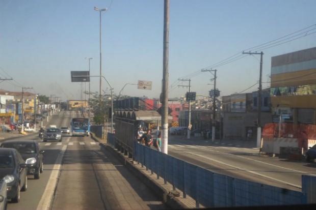 Parada Rio Grande do Sul, na avenida Cupecê (Créditos: Diogo Marcondes)