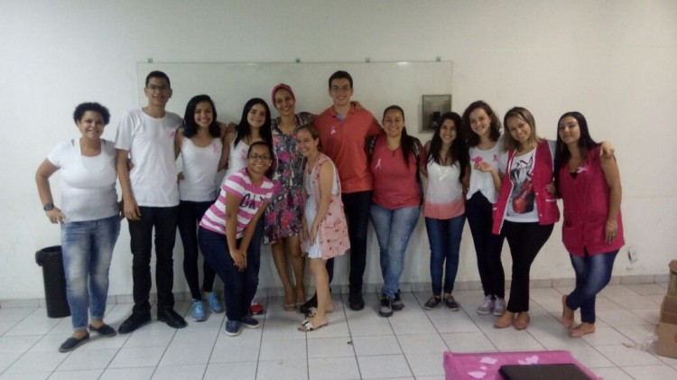 Alunos fazem ação na escola dede 2014 (Foto: Divulgação)