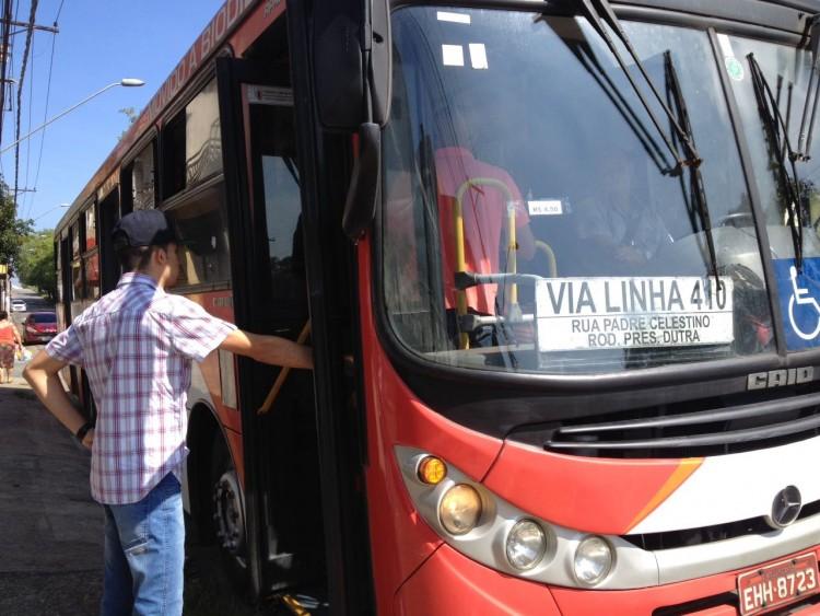 Ônibus da cidade de Guarulhos, na Grande São Paulo (Foto: Thalita Monte Santo)